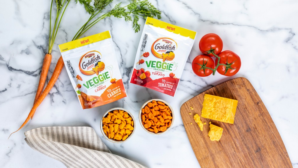 Get ready for veggie-flavored Goldfish crackers