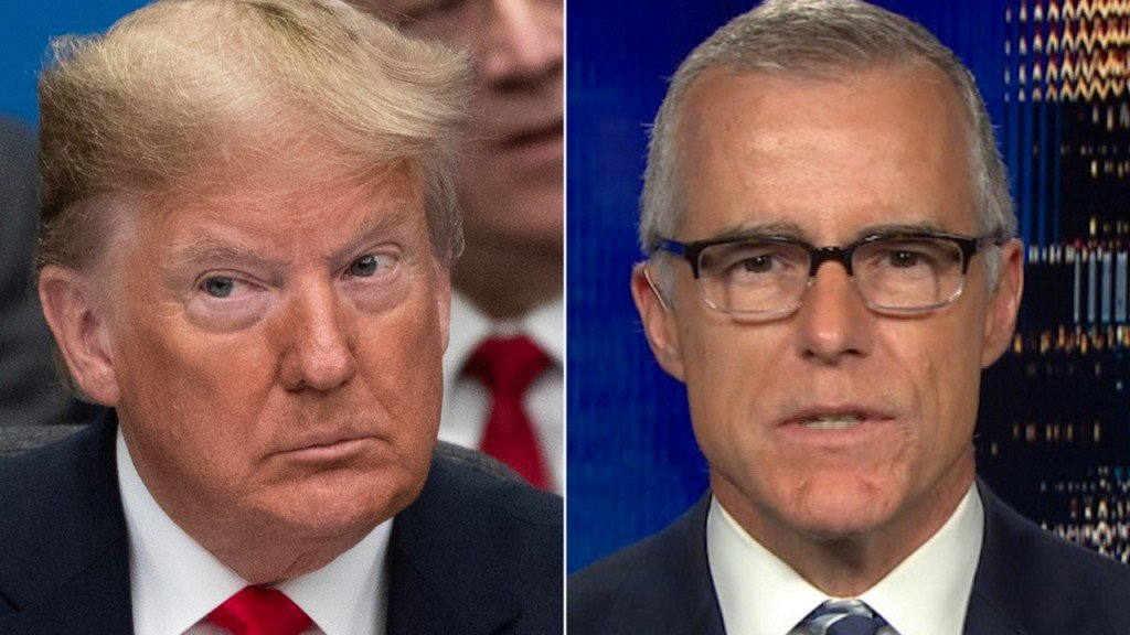Andrew McCabe says being accused of treason by Trump 'terrifying'