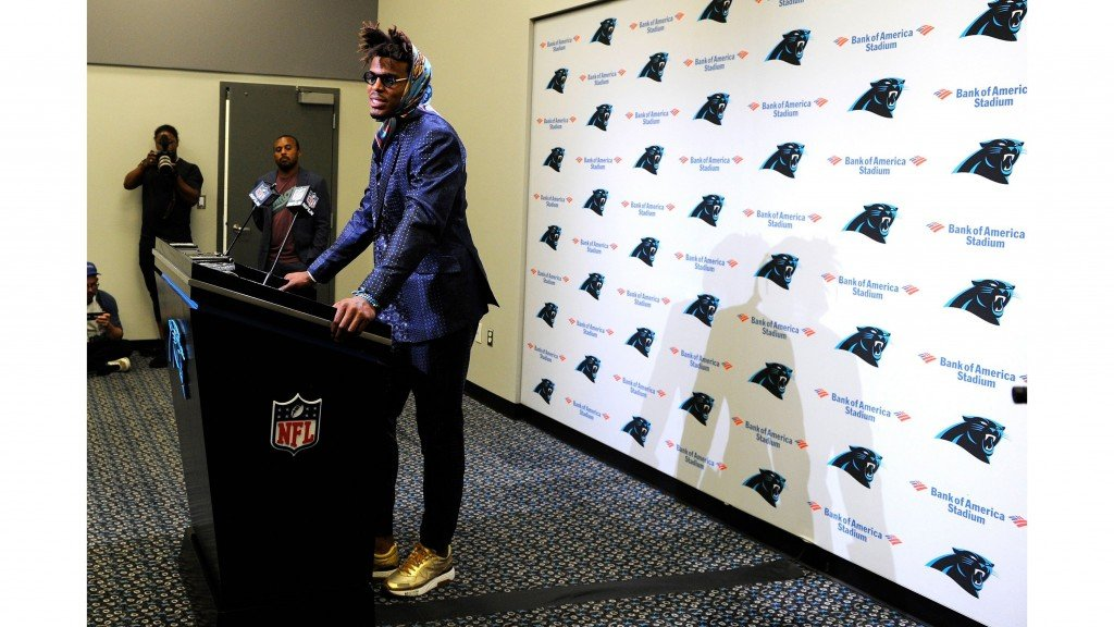 Cam Newton's post-game outfit a head-turner