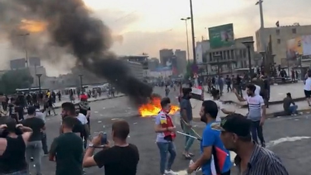 Iraqi protesters say they have videos of government atrocities
