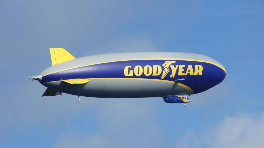 Goodyear lists its iconic blimp on Airbnb