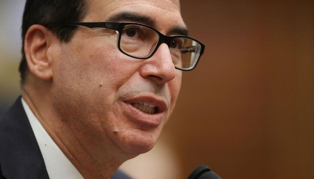 Mnuchin speaks with US bank executives