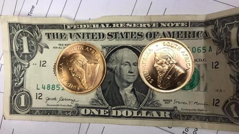 Salvation Army receives gold Krugerrand coins in red kettle