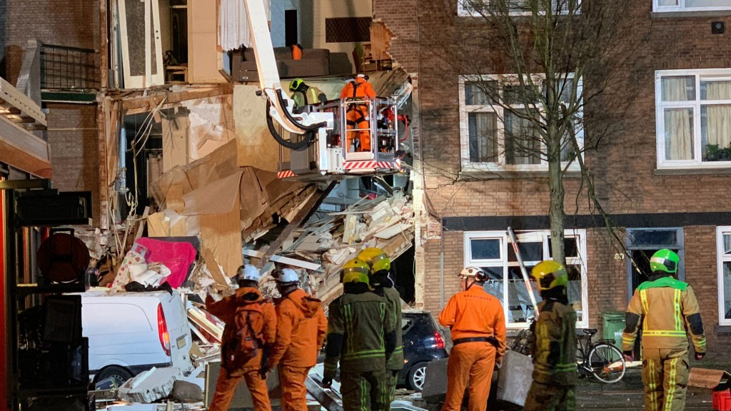 At least 1 trapped after presumed gas explosion in the Hague