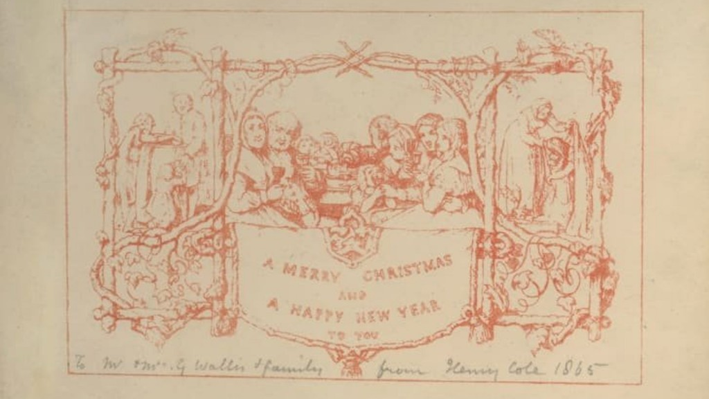 World's first printed Christmas card goes on display