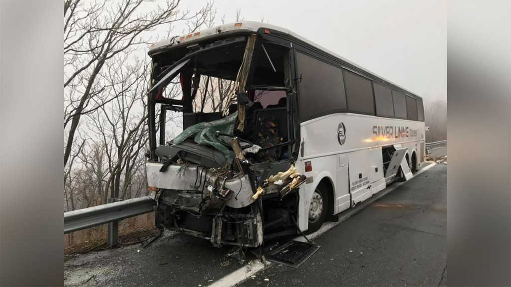 19 people hospitalized in Virginia after bus crash
