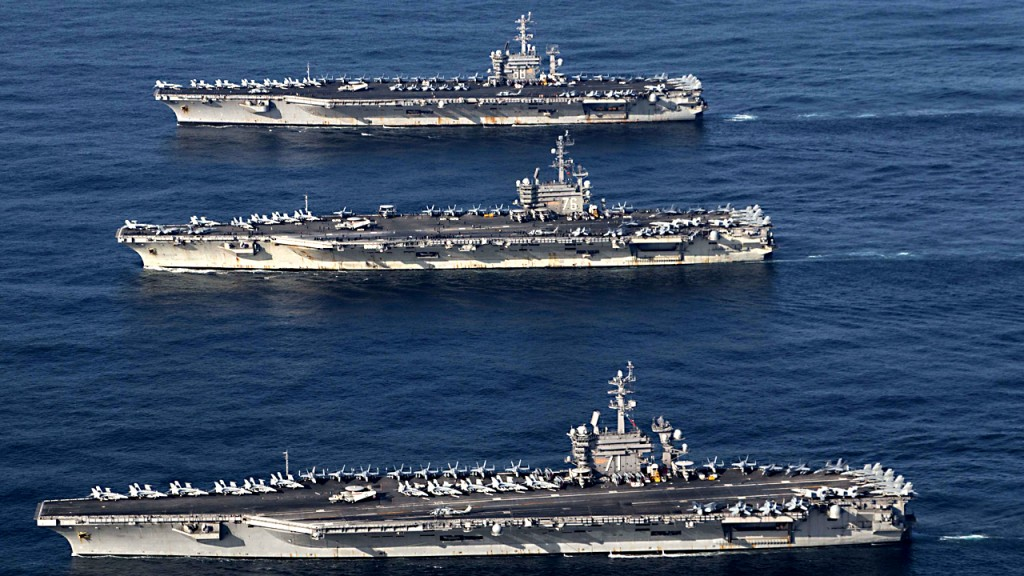 US aircraft carrier operations serve as floating American diplomacy