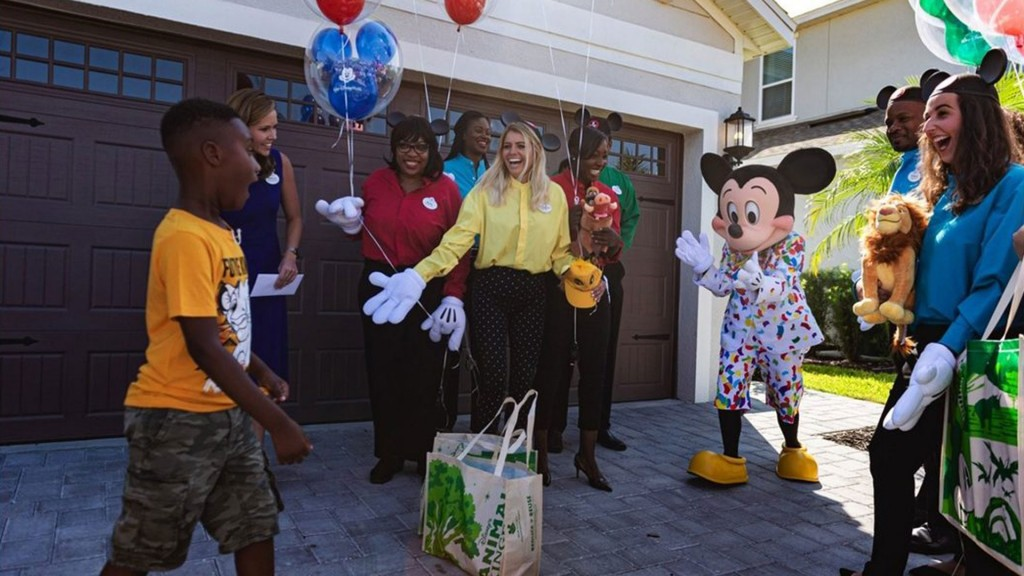 Boy who fed Dorian evacuees with Disney savings gets surprise