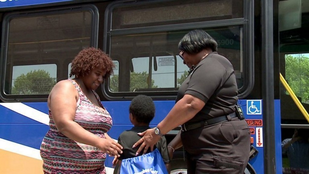 Mother meets bus driver who jumped in to save son's life