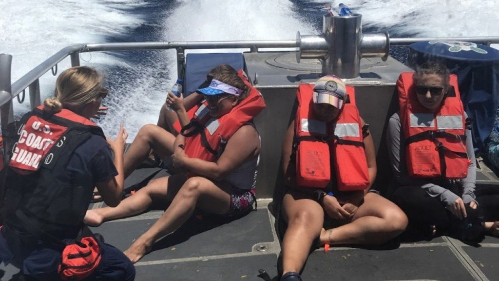 Six people rescued by Coast Guard off Diamond Head in Hawaii