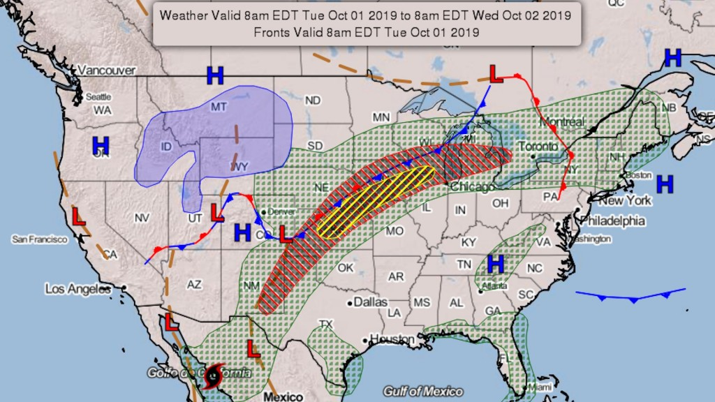 Flood watches stretch from Mexico to Michigan