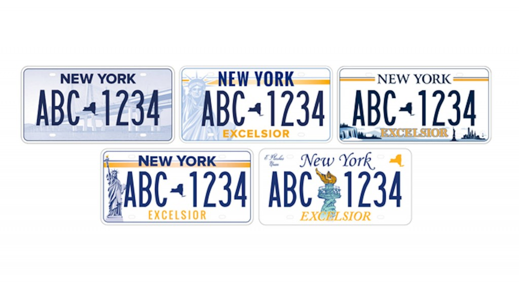 New Yorkers voting on license plate design