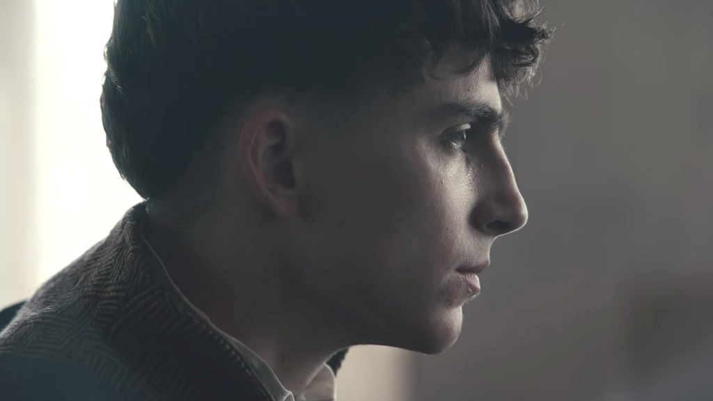 Timothée Chalamet feels the weight of the crown in 'The King'