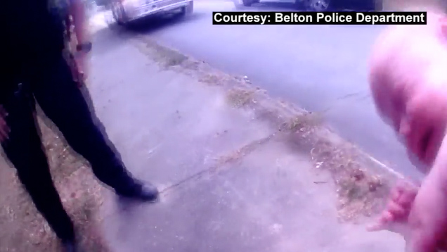 Caught on camera: Police officer saves choking baby