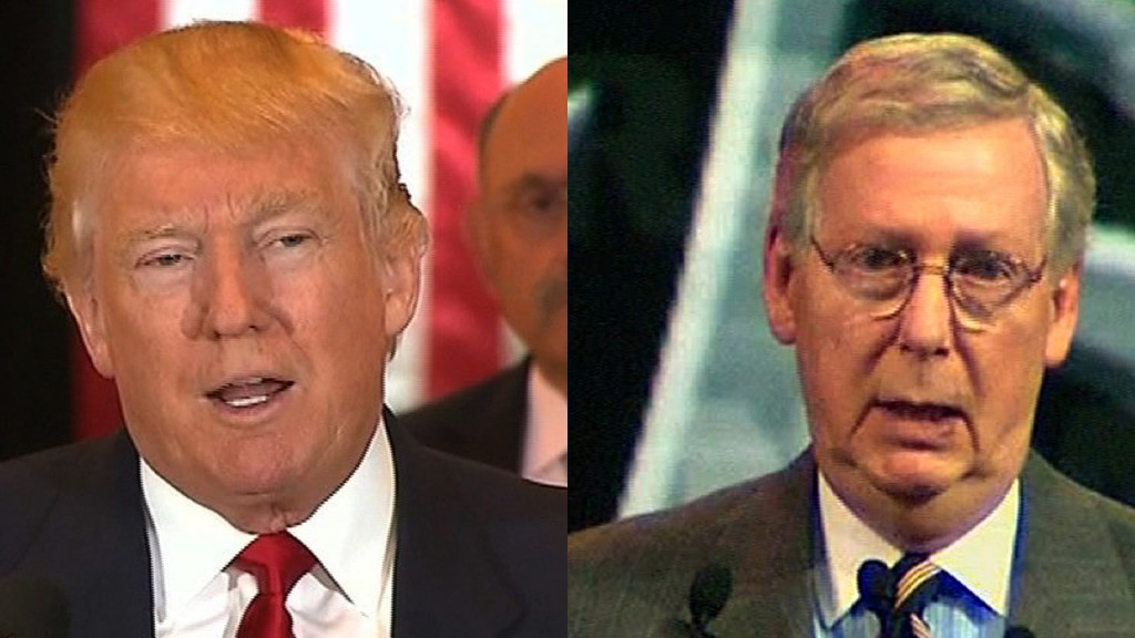 Trump-McConnell divide over impeachment trial growing