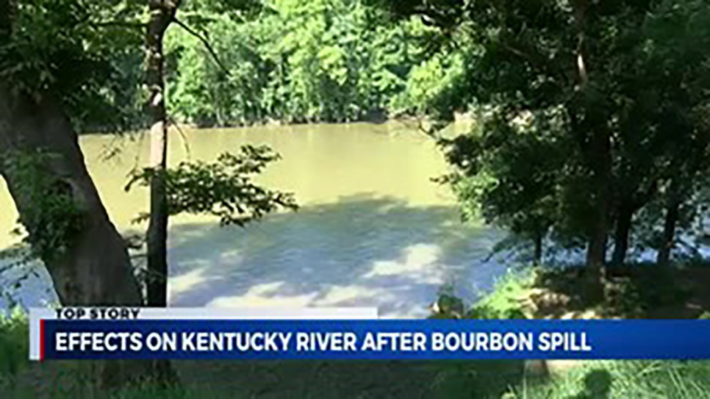 River brimming with dead fish after bourbon warehouse fire