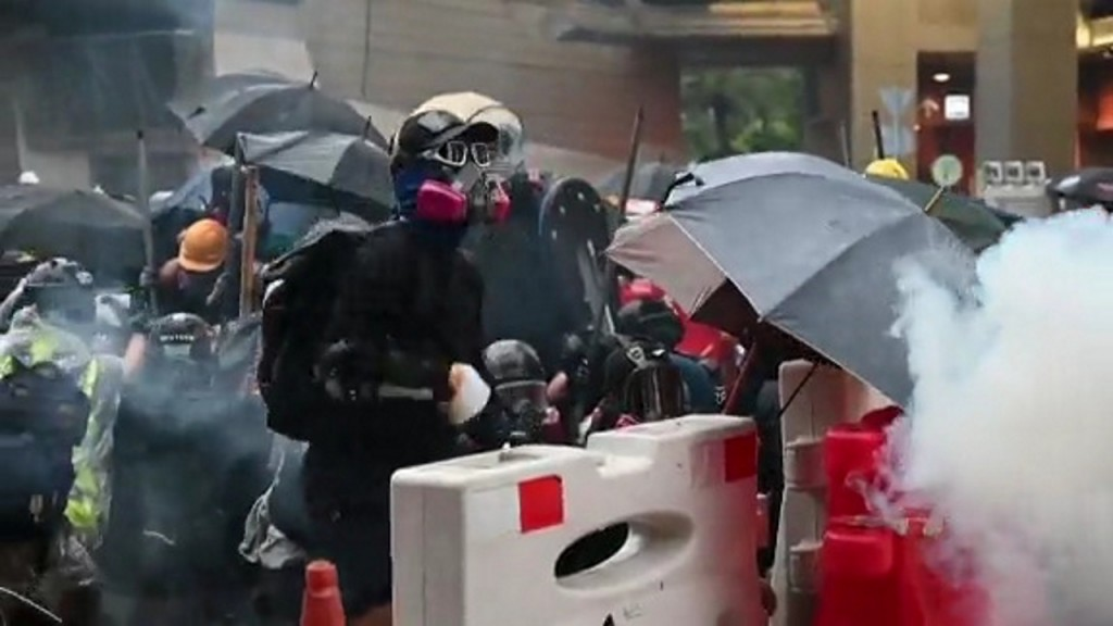Hong Kong police warn of escalation