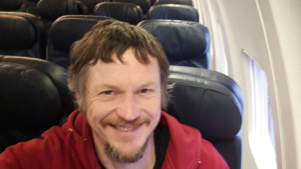 This man was the only passenger on a Boeing 737 to Italy