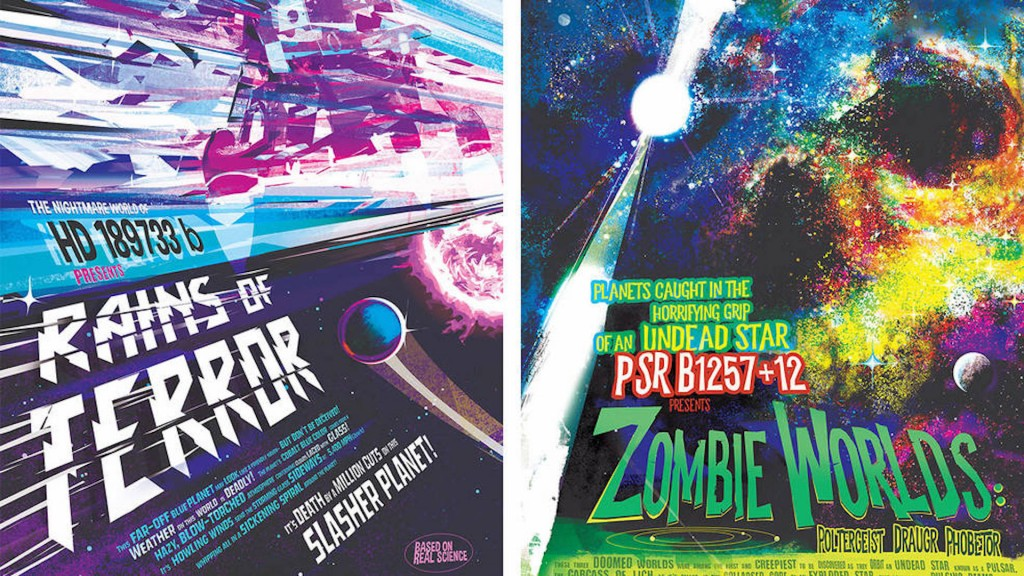 NASA reveals 'galaxy of horrors' exoplanet posters