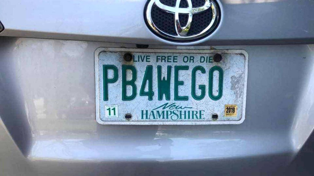 New Hampshire mom wins battle over 'PB4WEGO' license plate
