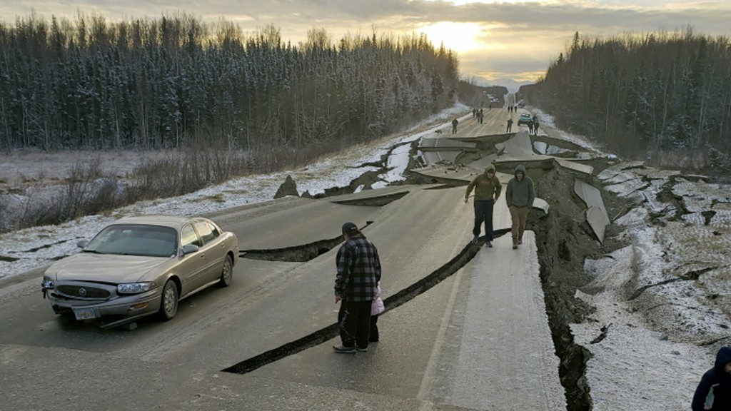Anchorage earthquake left crumbling buildings, collapsed roofs and damaged roads