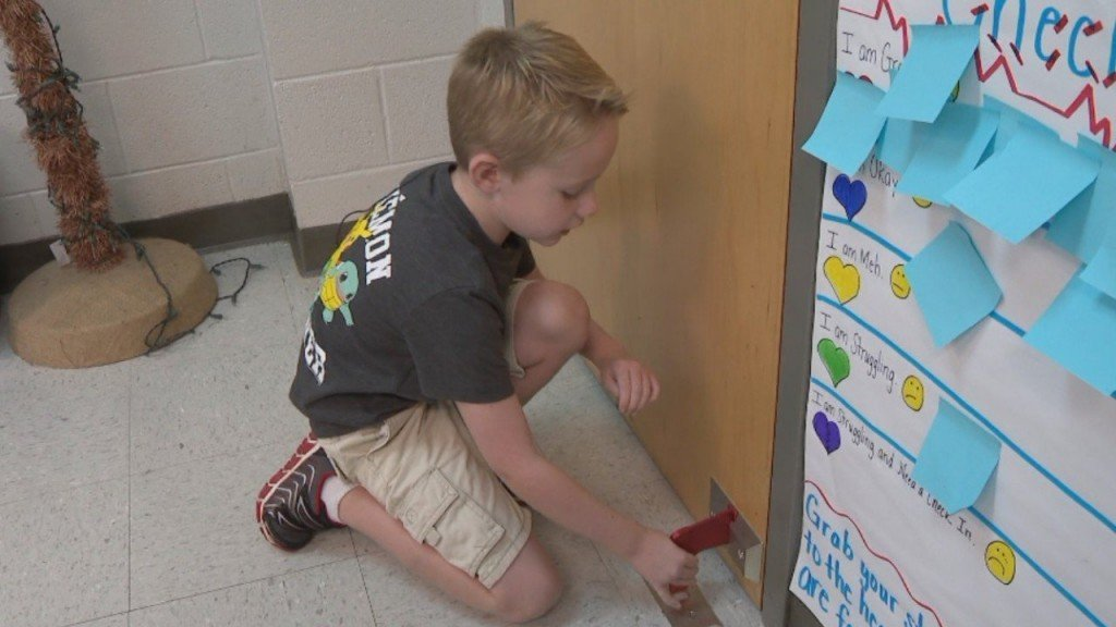 New school locks help elementary school students feel safe