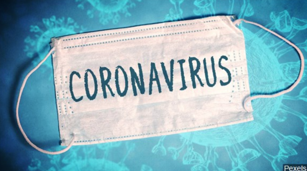 Coronavirus face mask graphic