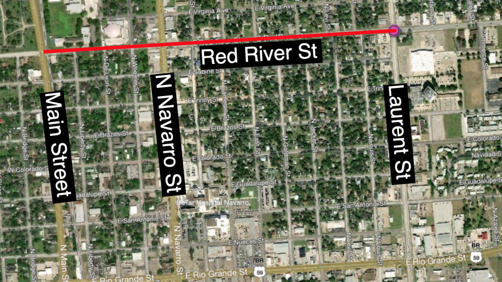Red River Street closure