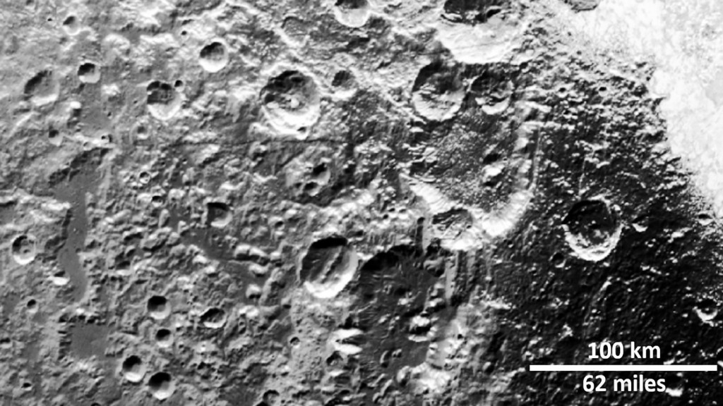Ancient scars on Pluto and Charon reveal distant space objects