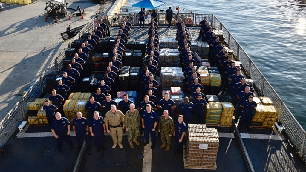 Coast Guard offloads over 34,000 pounds of cocaine in Fla.
