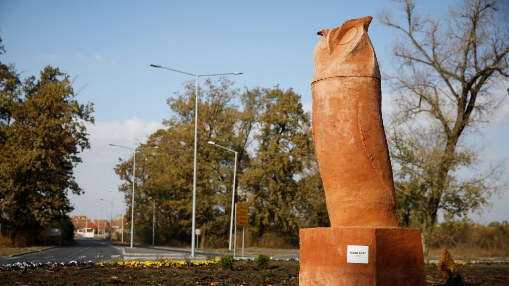 'Phallic' owl statue sparks outrage in Serbia