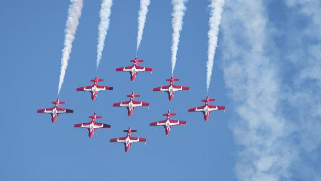 Air show season includes UK Red Arrows, F-35s and 747s