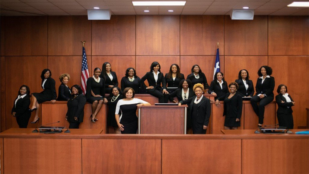 One Texas county just swore in 17 black female judges