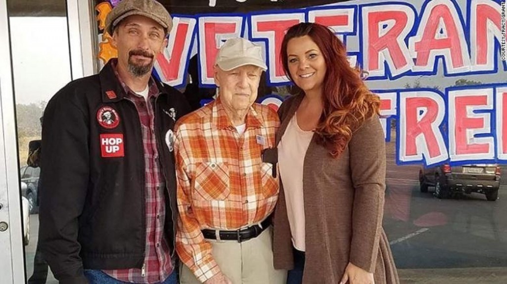 California couple 'adopt' 93-year-old veteran affected by wildfire