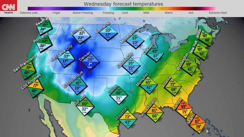 While fires scorch California, parts of US see early winter weather