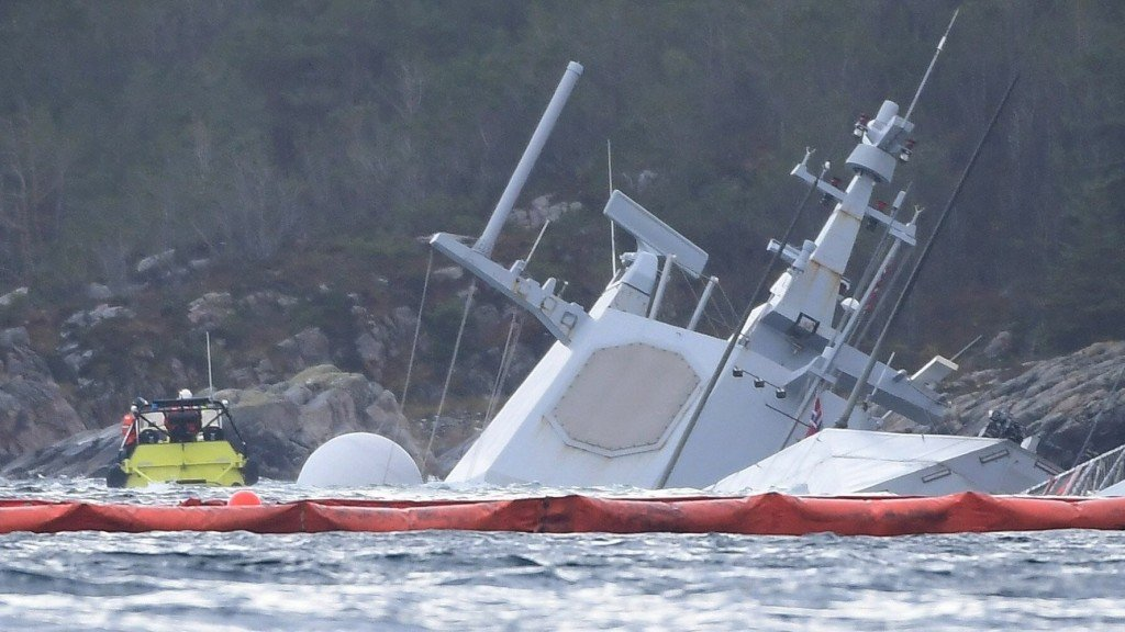 US Navy sailor on board Norwegian frigate that sank after collision