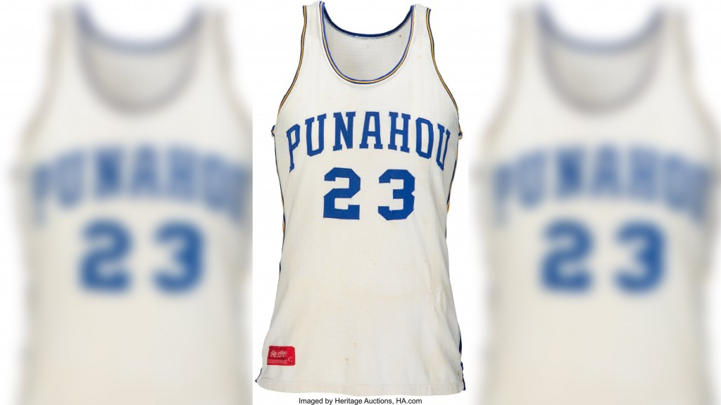Obama's high school jersey for auction