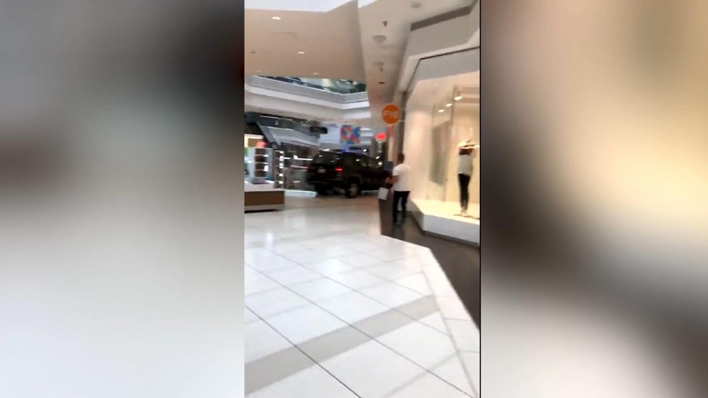 Caught on camera: SUV driven through mall