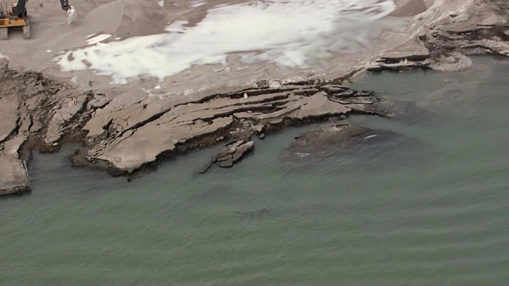 Former radioactive site collapses into Detroit River