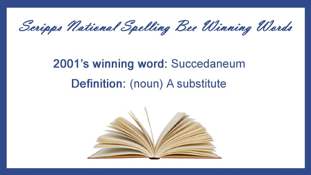 Winning words from National Spelling Bee