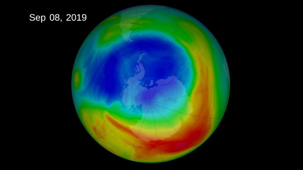 Antarctic ozone hole smallest since it was discovered