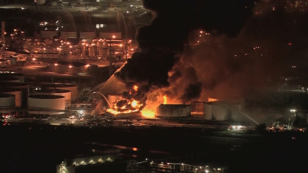 Health worries linger after massive fire at Texas petrochemical facility