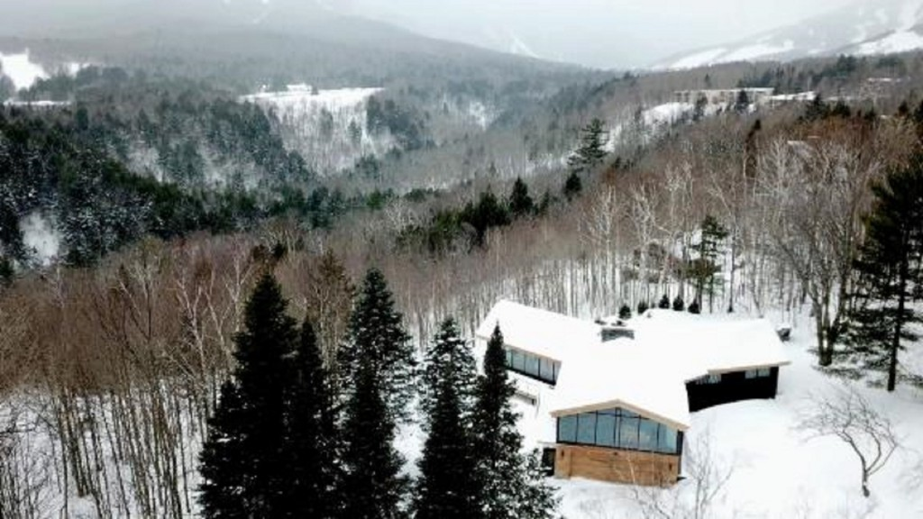 Open and unfussy, this glass chalet is a skier's dream