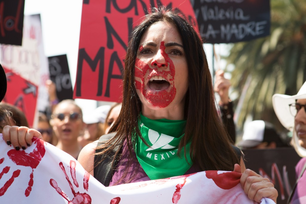 Demonstrators Attend The International Women's Strike Mexico City Rally
