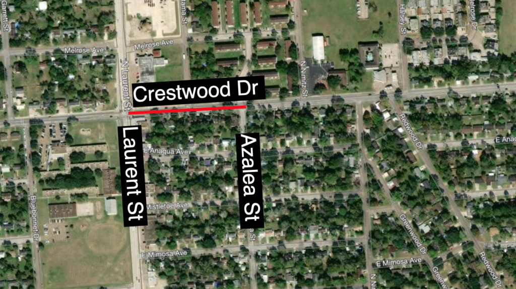 Crestwood Dr closure between Laurent and Azalea