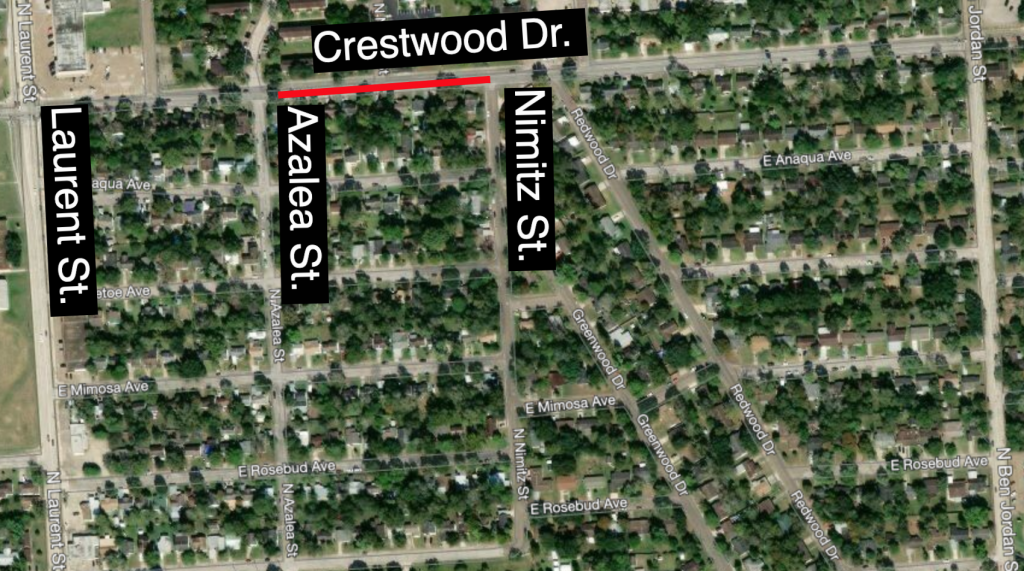 Crestwood closed between Azalea and Nimitz