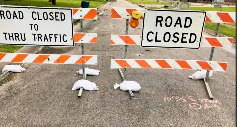 Roads are closed in Port Lavaca due to the Capital Improvement Project