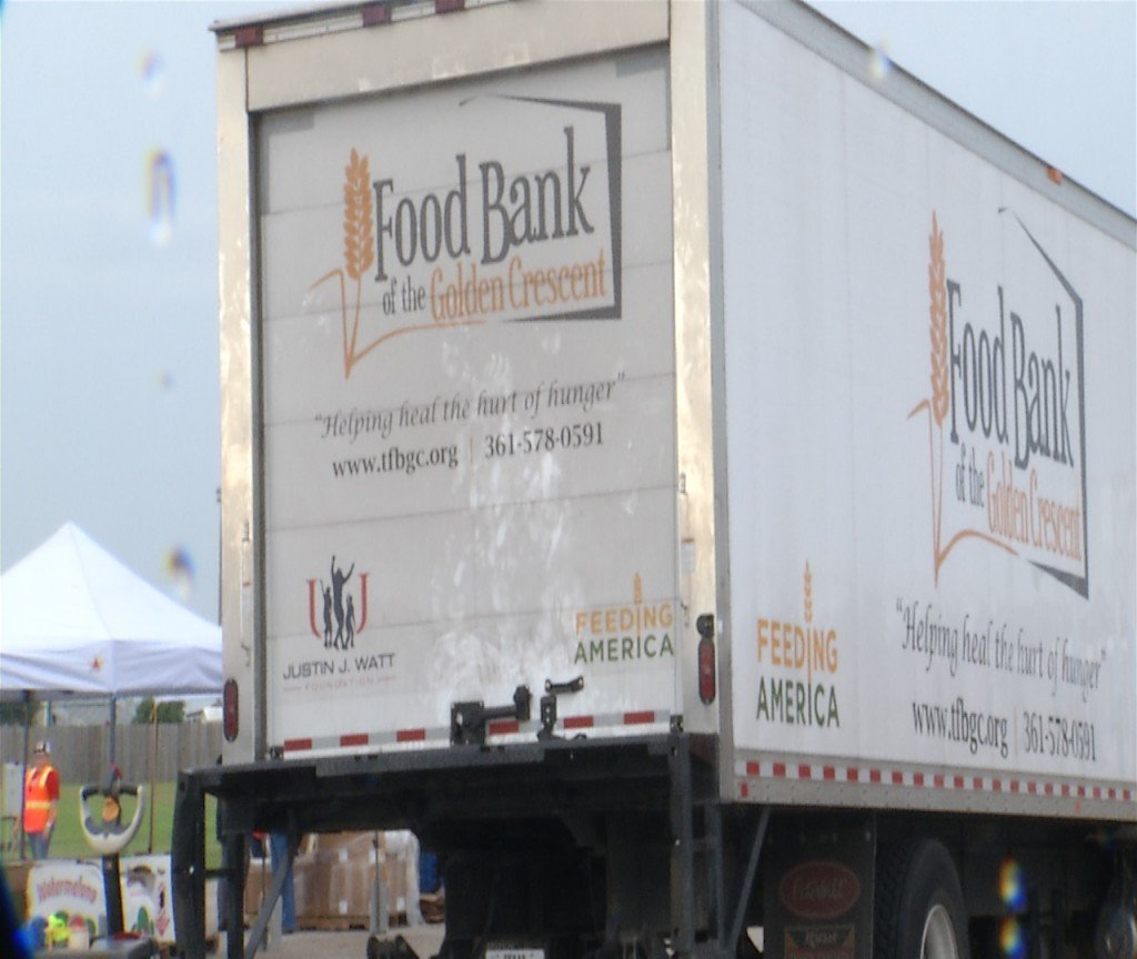 The Food Bank of the Golden Crescent served meals to 800 families in Cuero