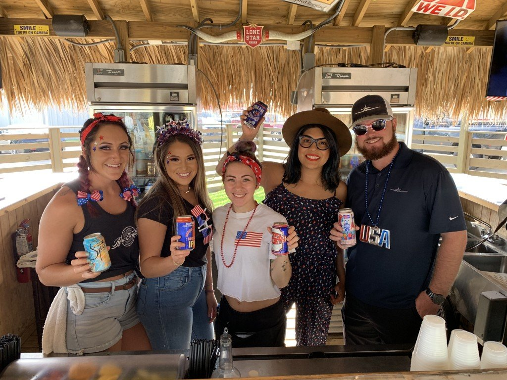 Aero Crafters employees at the inaugural Fourth of July party in 2019