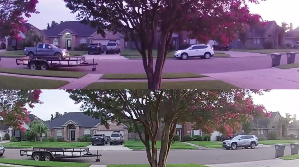 Image showing home security camera footage capturing a burglary